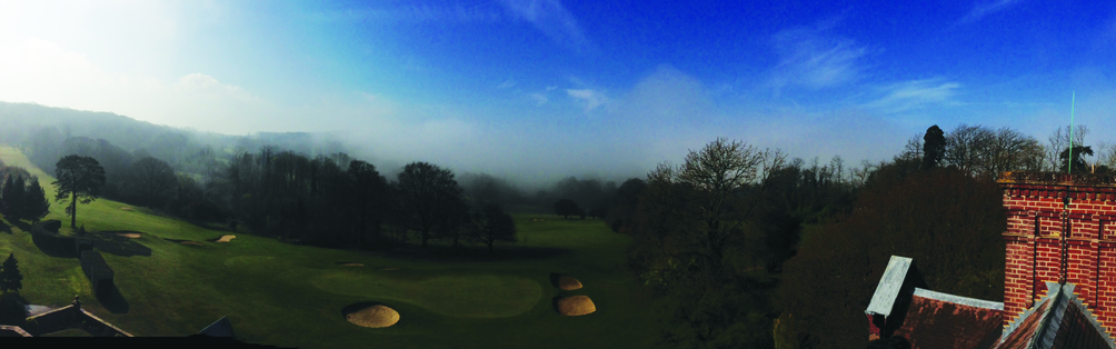 Tyrrells Wood Golf Club - View From The Roof March 2014